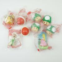 8 Nintendo McDonalds Happy Meal Super Mario Toys 4 x 1up mushrooms luigi peach