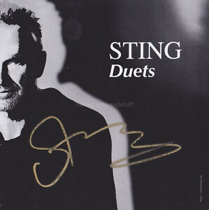 Sting HAND SIGNED Art Card Autograph, Duets, The Police, Quadrophenia