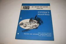 Ford 60 Rotary Hay Cutter Series 505 Owners Manual