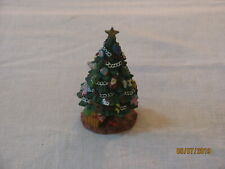Galleria Lucchese Resin Polish Christmas Tree Figurine, 1996, Roman Inc, No Box