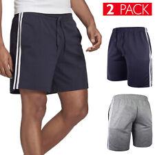 2 Pezzi Bermuda Uomo Cotone Pantaloncino Corto Tuta Shorts Banda Fitness VEQUE
