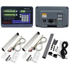 2 Axis Digital Readout Dro Kit 5m 250mmamp1000mm Ttl Linear Scale Cnc Mill Lathe