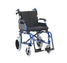 Drive Enigma XS Aluminium Crash Tested Lightweight Transit Wheelchair - Blue