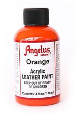 Angelus Brand Acrylic Leather Paint Waterproof Orange - 4.oz