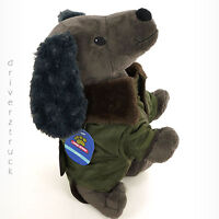 TOP PAW New! X-SMALL Quilted GREEN Winter DOG COAT Faux Fur BROWN COLLAR Jacket