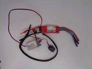 Kontronik JAZZ 55amp brushless SPEED CONTROLLER + HOBBYWING 5AMP BEC  good cond