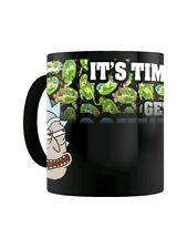 More details for rick and morty mug for tea or coffee get schwifty heat changing black