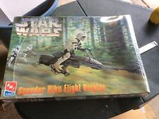 Speeder Bike Flight Display Vintage Star Wars Model 1997 Ertl AMT ROTJ BIKER