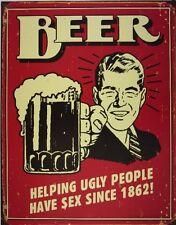 Funny Beer Tin Sign Vintage Retro Wall Art Bar Pub Man Cave Dorm Room Home Decor