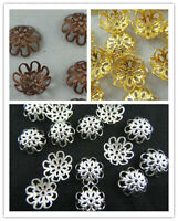 200PCS Wholesale Gold /Silver/Copper Flower Bead Caps Jewelry Findings 10mm 12mm