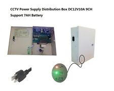 CCTV Camera UPS Box 12V DC 9CH 10Amps Power Battery Support Battery Protection