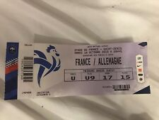 Coleccionista used ticket Francia Alemania france Germany dfb Nations 2018