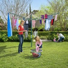 Hills Rotary 8 Washing Line Ocean Breeze Blue (58m Clothes Line)