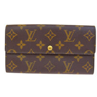 Auth LOUIS VUITTON Credit Long Bifold Wallet Purse Monogram Brown M61724 07SA177