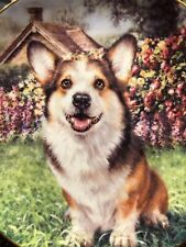 """#Mint Danbury Limited Welsh Corgi Plate """"Eager to Play"""" Numbered Collector Plate"""
