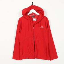 Vintage Youth KAPPA Small Logo Zip Up Hooded Fleece Top Red XL Grade B