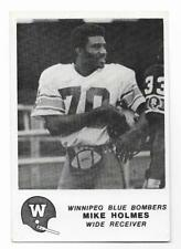 B&W MIKE HOLMES WR WINNIPEG BLUE BOMBERS,CANADIAN PROFESSIONAL LEAGUE #35 OF 50
