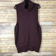 Architect Womens Sweater Cotton Knit Turtkeneck Sleeveless Vest Tunic Size XL