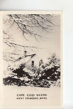 Real Photo Postcard Cape Cod Winter Scene West Falmouth MA