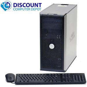 Dell OptiPlex 755 Desktop Computer Tower C2D 4GB RAM 250GB HD Windows 10 Pro PC