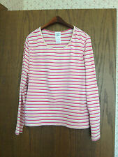 Women's Laura Ashley Striped Long Sleeved Top Size XL