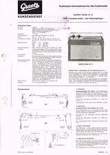 Graetz Super Page 47C Kofferradio 1965 Schaltplan Manual Original  -