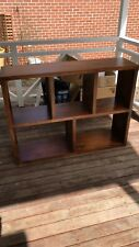 Open shelf solid timber bookcase