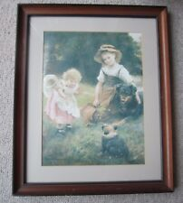 """Framed Print by George Hillyard Swinstead  """"Their Favourite Pets"""""""