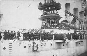H60/ Ship RPPC Postcard U.S.S. New Hampshire Battleship c1915  107
