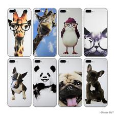 "Divertida Animales Funda/Funda Apple Iphone 7 Plus (5.5"") Protector de Pantalla"