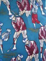 Resilio Golf Golfer Novelty Mens Silk Necktie Sport Tie Golfing