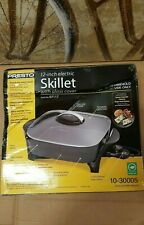 "PRESTO 12"" ELECTRIC SKILLET W/GLASS COVER *DISTRESSED PACKAGING*"