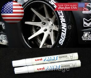 2x White Waterproof Oil Based Pen Paint Marker For Chevy Tire Wheel Tread Rubber