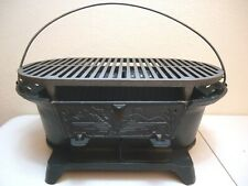 NOS LODGE CAST IRON (MALLARD DUCK) SPORTSMAN HIBACHI GRILL WITH BOX
