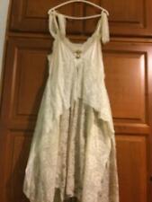 100 % VINTAGE New York Hand made Plus Wedding dress  very warm beige color
