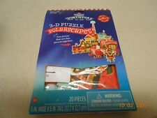 New Hallmark NorthPole 3-D 20 piece puzzle Sno-Coa To Go 4 Christmas Stocking St