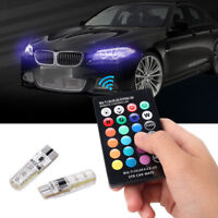 RGB Color T10 5050 Remote Control Car LED Bulb 6 SMD W5W 501 Side Light Bulbs