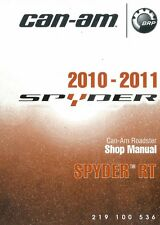 2010 2011 Can-Am Spyder RT RT-S RT Ltd motorcycle service manual 3-ring binder