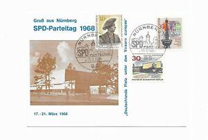 Sonderausgabe-SPD , Parteitag 1968 in Nürnberg- beste Erhaltung-