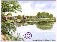 "ALDRIDGE SAILING CLUB WEST MIDS WATERCOLOUR ARTISTS PRINT ART CARD 8""x 6"""