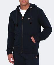 NWT True Religion Brand Jean Navy Metal Horseshoe Logo Hoodie Sweatshirt Jacket