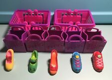 Shopkins Season 2 - Lot of 5 Shoes, Common and Rare with Bags and Baskets
