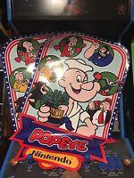Popeye Arcade Side Art Artwork Overlay Decal Sticker CPO Nintendo