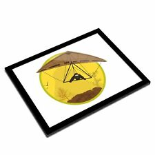 A3 Glass Frame - Hang Gliding Extreme Sports Art Gift #7139
