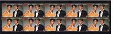 WHAM GEORGE MICHAEL STRIP OF 10 MINT VIGNETTE STAMPS 2