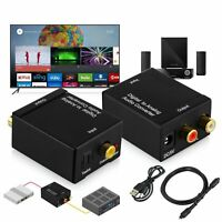 Digital Optical Coaxial Toslink To Analog RCA L/R Audio Adapter Converter USB UK