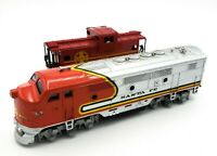 HO Scale Train MODEL POWER Diesel LOCOMOTIVE SANTA FE & Caboose 999246 TESTED