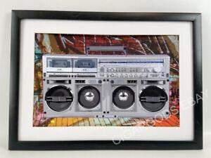 "Sharp GF777  Boombox Poster 17"" x 11"" Vintage Boom Box Ghetto Blaster-NO FRAME"