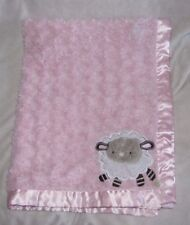 FISHER PRICE PINK LAMB SHEEP SATIN BABY GIRL BLANKET