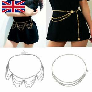 Women's Metal Chain Retro Belt High Waist Hip Coin Charms Waistband Body Chain
